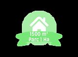 1500 m parc 1 ha