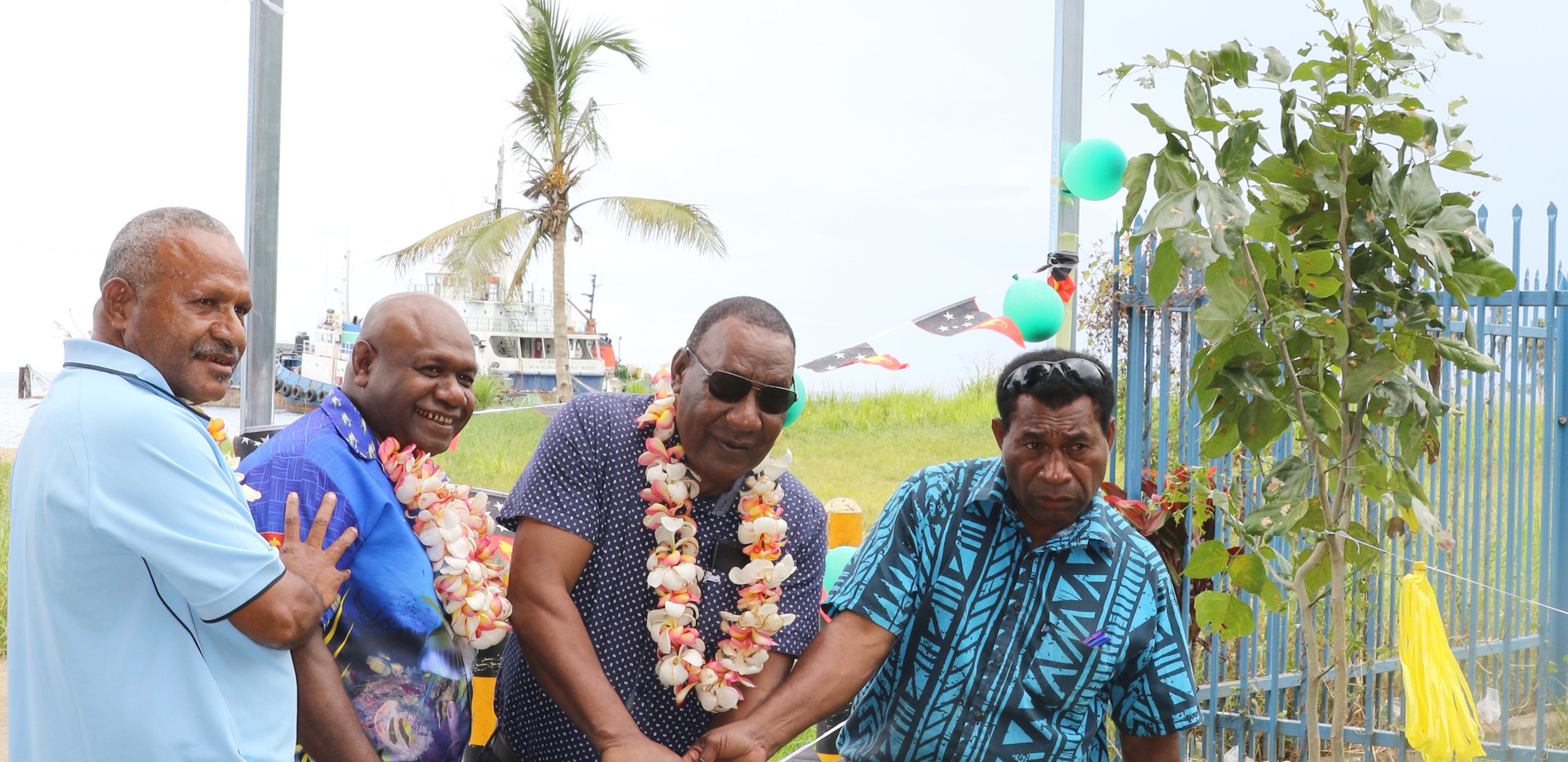 turning of the sod of the Kimbe jetty pr