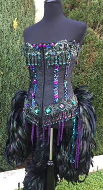 Peacock Jeweled Corset Costume - SOLD
