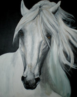 White horse painting - For Sale