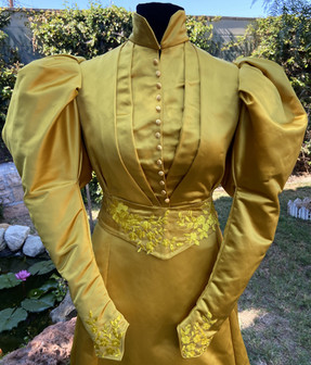 Yellow/Gold 1890s Dress - Completed in 2020