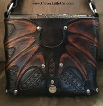 Leather Dragon Bag - Inside