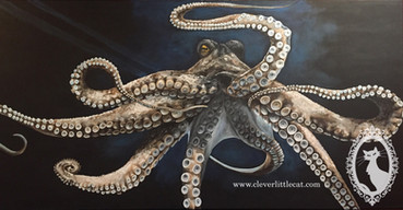 Octopus Painting - SOLD