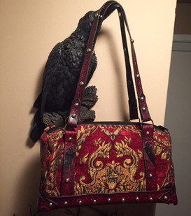 Custom Upholstery Fabric and Leather Bag