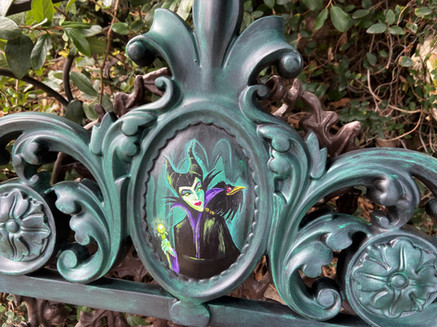 Maleficent painted on Foam Filigree trim- FOR SALE