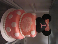 Minnie Mouse 2 Tiered Cake