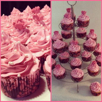 Pink White Chocolate Cupcakes