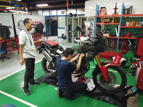 Training Maintenance Honda CRF1000L di AHTC