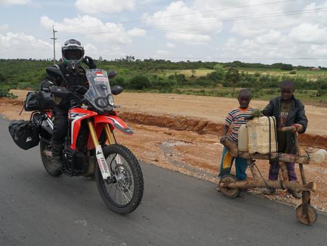 Riding to Dar es Salaam Tanzania