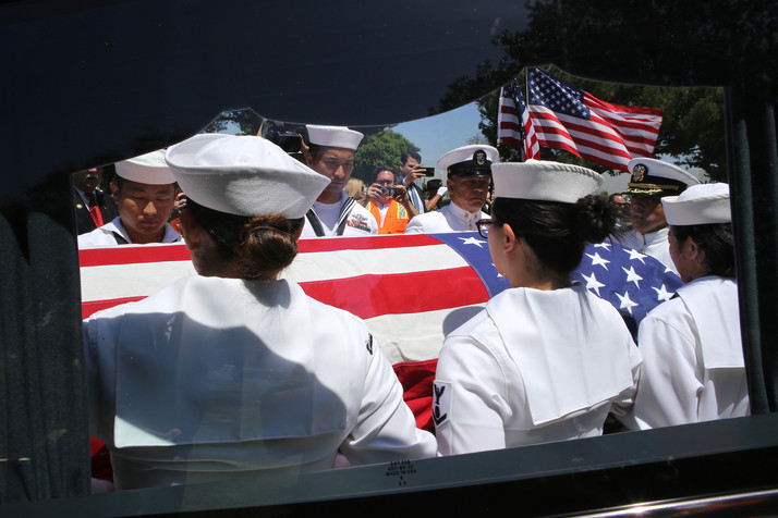 Petty Officer Raul A. Guerra Burial Service