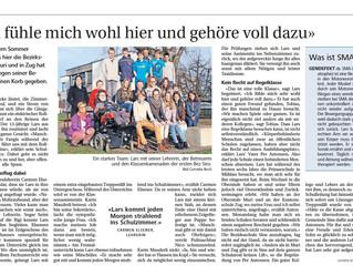 Artikel in der Neuen Zuger Zeitung