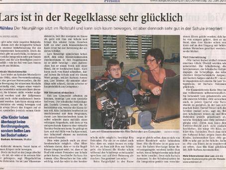Artikel in der Aargauer Zeitung
