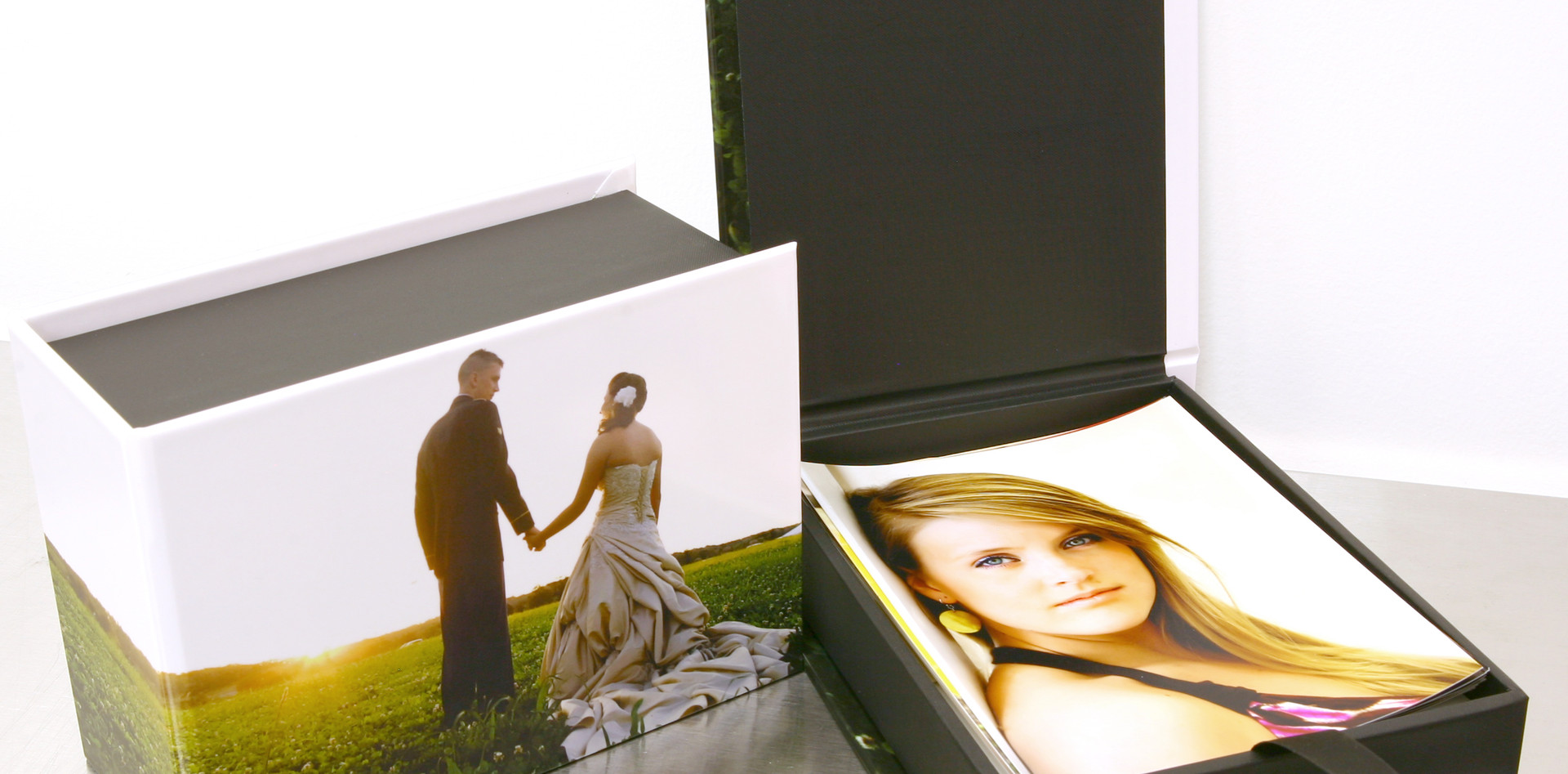 Custom boxes for albums and prints