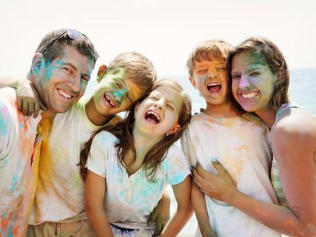 Family portrait session: Very & Teddy color run photography in Dania Beach, Fl