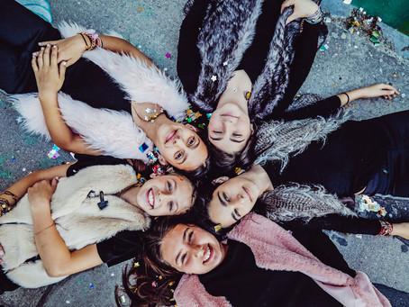 Bat Mitzvah girls' group: Taly, Ilana, Natalie, Naomi & Julia photoshoot at Wynwood, Florida