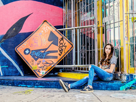 Bat Mitzvah girl photoshoot: Alex from NY in Wynwood, Florida