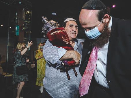 Donation of Torah to Aventura Chabad Synagogue (Rabbi Forta), Aventura Florida