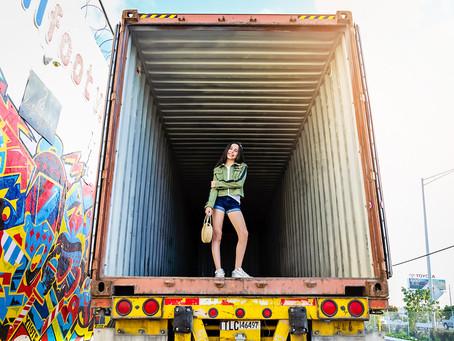 Bat Mitzvah girl photoshoot: Daniella in Wynwood, Florida