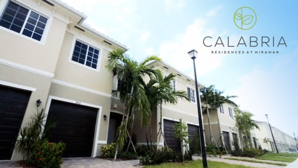 Real state video of Calabria Residences.