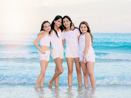 Bat Mitzvah girls' group: Tulum vibes photoshoot at South Pointe Park, FL