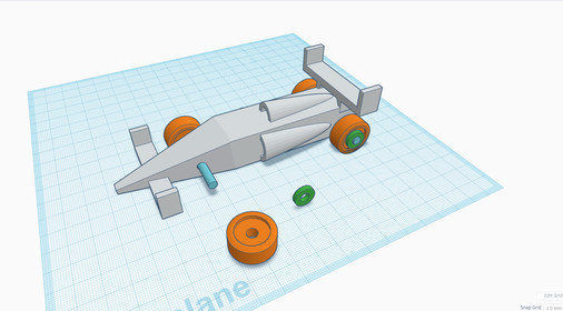 Tinkercad Teaching - Example for racecar