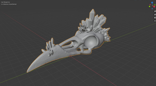 Crystaline Skull in Blender