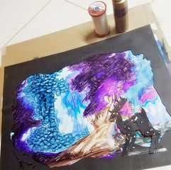 Projection painting
