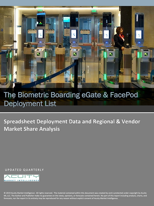 The Biometric Boarding eGate and FacePod Deployment List