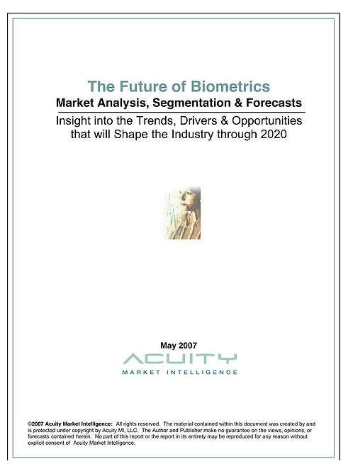 The Future of Biometrics (2007)