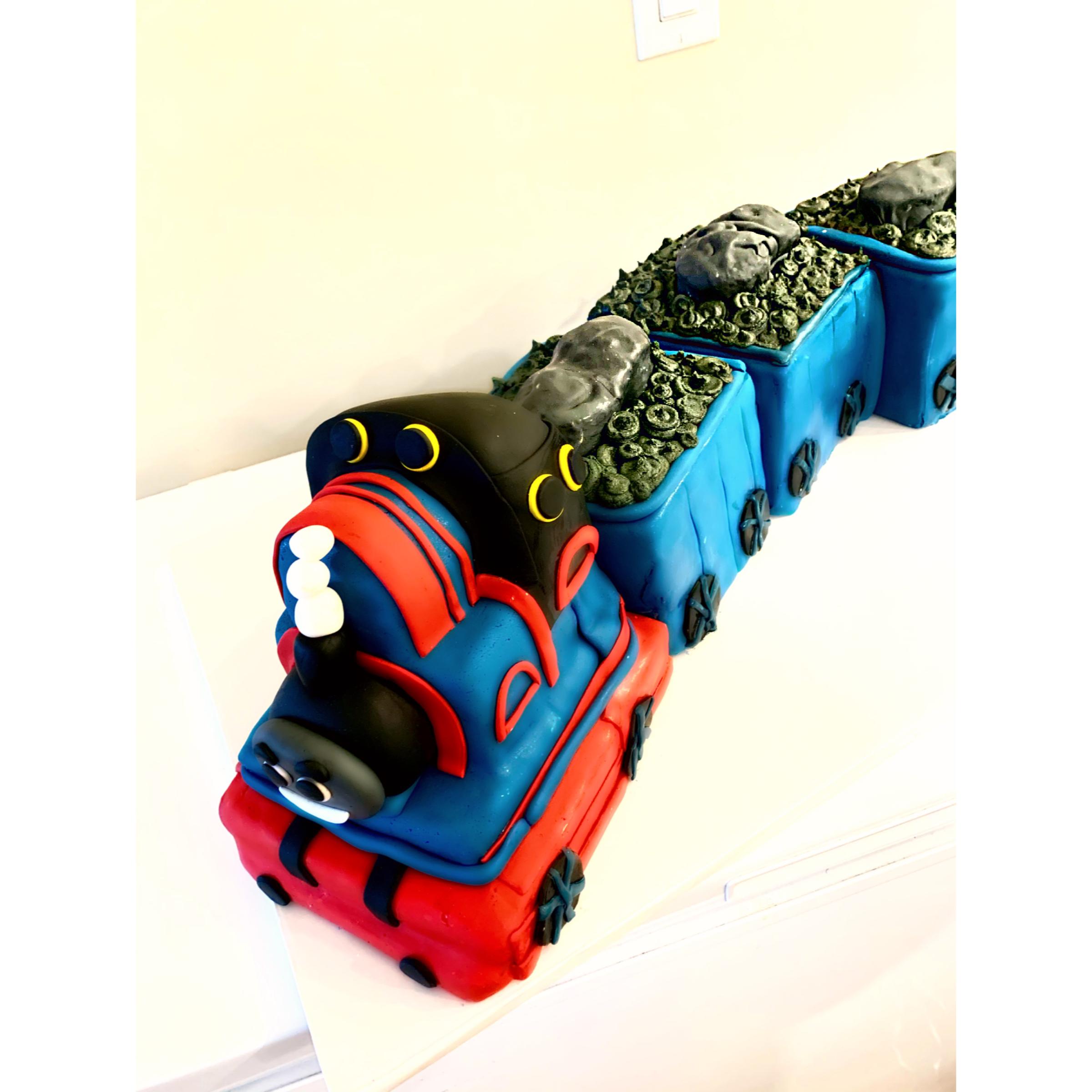 Thomas The Tank Engine Train Cake