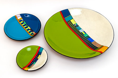 "11"" Striped Plate"