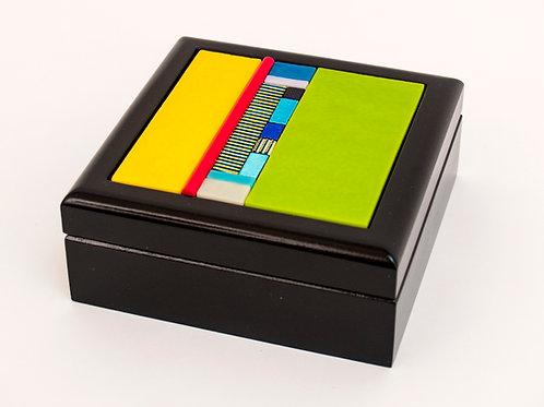 Small Striped Glass Box
