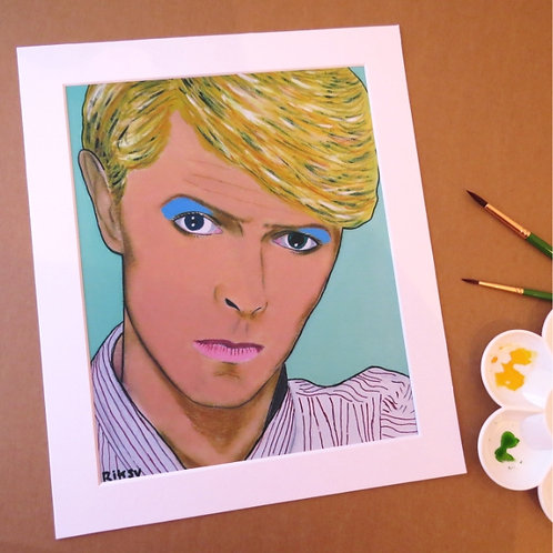BOWIE - ART PRINT WITH MOUNT