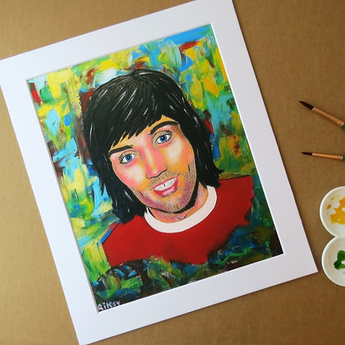 GEORGE BEST - ART PRINT WITH MOUNT