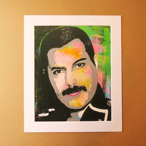 FREDDIE MERCURY - 1985 ART PRINT WITH MOUNT