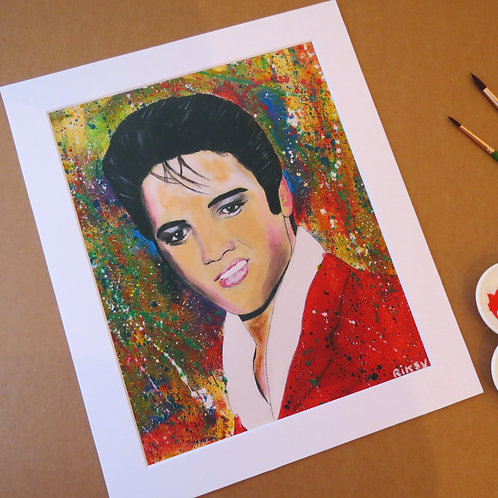 ELVIS - ART PRINT WITH MOUNT