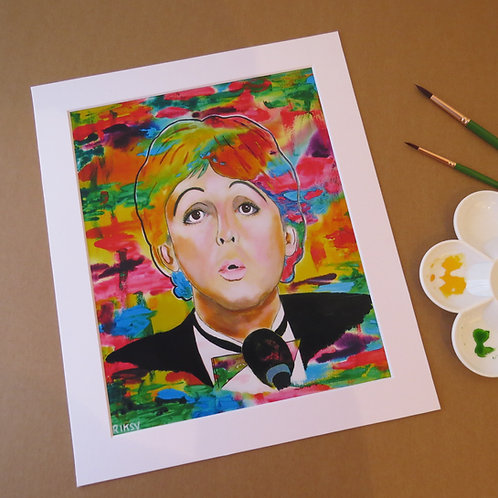 PAUL McCARTNEY -  ABSTRACT ART PRINT WITH MOUNT