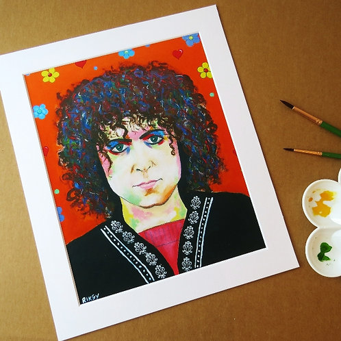 MARC BOLAN - ART PRINT WITH MOUNT