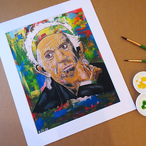 KEITH RICHARDS - ART PRINT WITH MOUNT