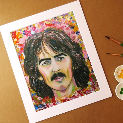 GEORGE HARRISON - ART PRINT WITH MOUNT