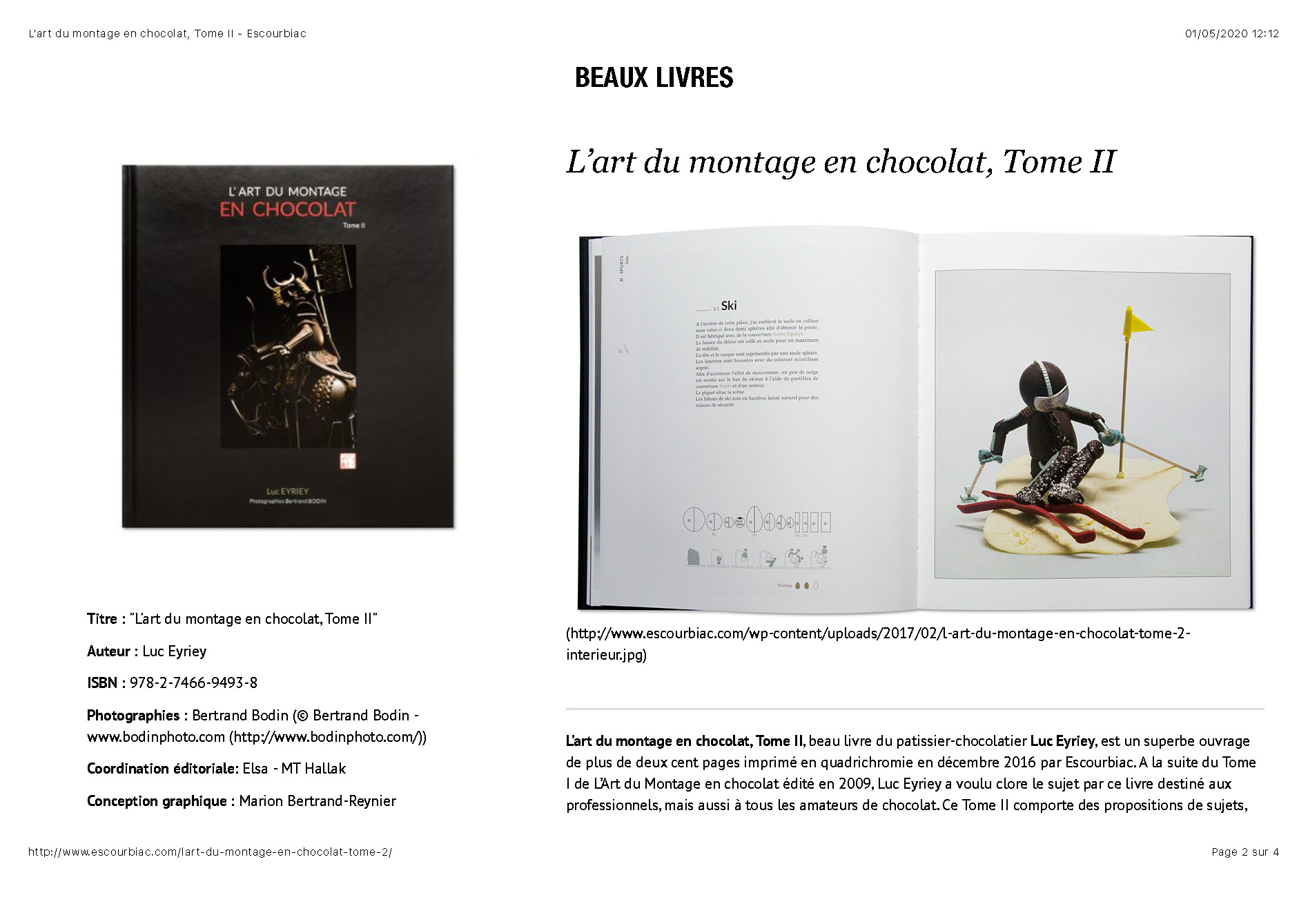 L'art du montage en chocolat, Tome II -