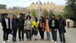 Avec des Etudiants Indiens de Bengalore