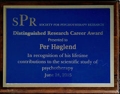 Plakett SPR Research career award