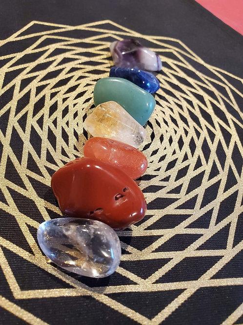 Seven Chakra Crystal Bag