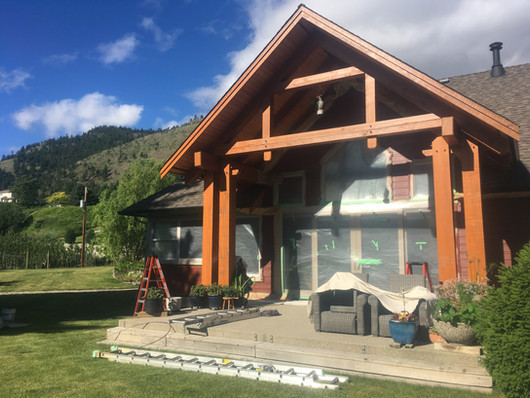Exterior painting and exterior wood staining
