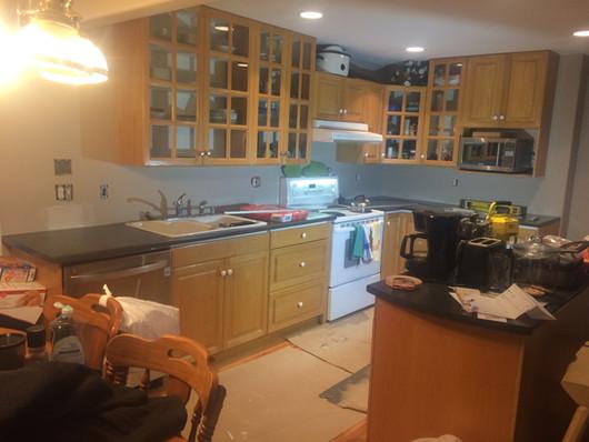 BEFORE: Kitchen backsplash