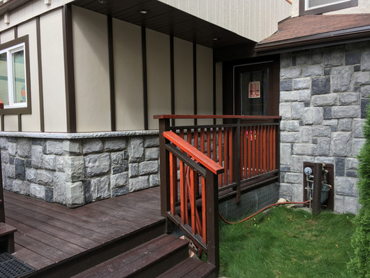 AFTER: Exterior stone wall