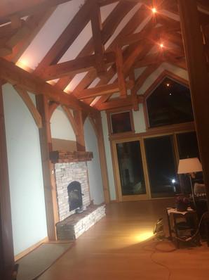Interior wood staining
