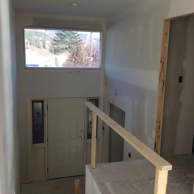 BEFORE: Stair railing