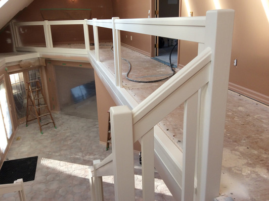AFTER: Painting staircase woodwork
